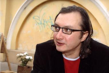 A.Matelis skaitys pranešimą Baltijos ir Šiaurės šalių filmų kūrėjams