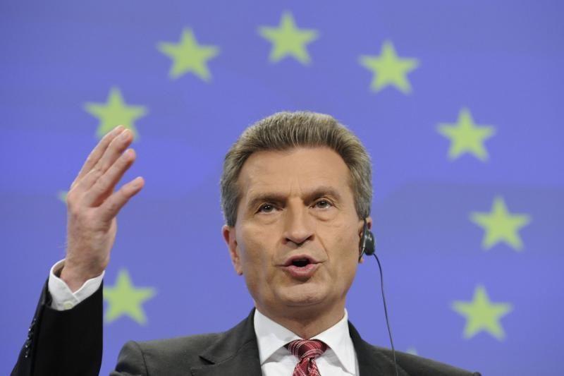 Lietuvoje lankosi ES energetikos komisaras G.Oettingeris