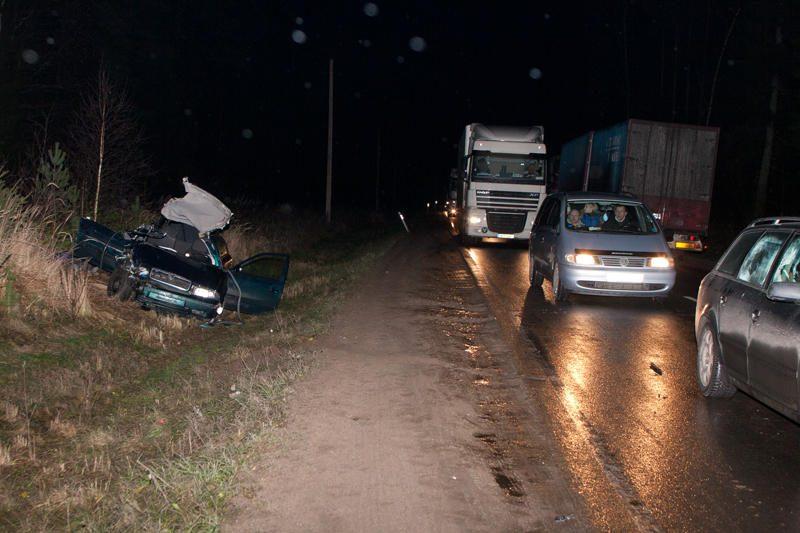 Per avariją šalia pasienio posto žuvo moteris