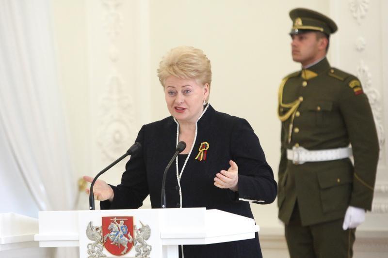 D.Grybauskaitė:valstybė - tai karūna, kurią pelnyti reikia pastangomis