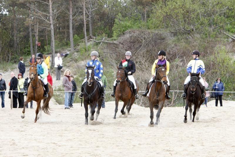 Palangoje žirgų lenktynėms vangus žiūrovų dėmesys