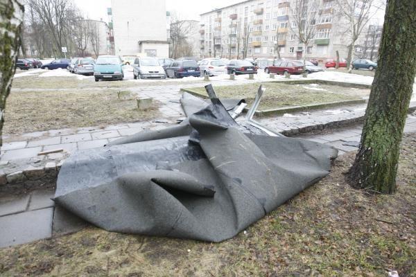 Klaipėdos savivaldybė skaičiuoja audros padarytus nuostolius