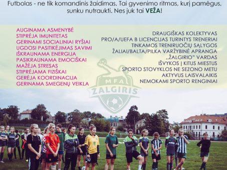 Skelbimas - Populiariausias pasaulio sportas ir mergaitėms!