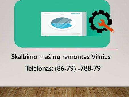Skelbimas - skalbimo masinu remontas Vilnius  867978879