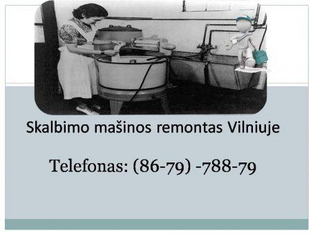 Skelbimas - Skalbimo mašinos remontas Vilniuje 867978879