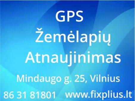 Skelbimas - GPS Žemėlapių Atnaujinimas, Remontas Vilniuje