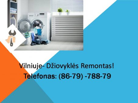 Skelbimas - Dziovykliu remontas Vilnius 867978879