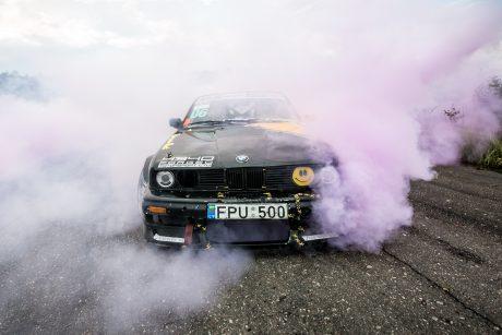 Nemuno žiede susidūrė du lenktyniniai automobiliai