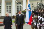 Lietuvoje vieši Slovėnijos prezidentas