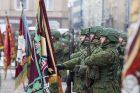 Iškilminga savanorių pajėgų rikiuotė