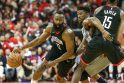 J. Hardenas NBA atkrintamąsias pradėjo fantastišku pasirodymu