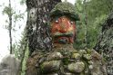 Dekoratyvi akmens skulptūra Žemaitijos nacionaliniame parke
