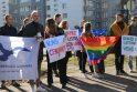 Protesto akcija prieš cenzūrą LRT