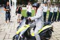 Savivaldybė perdavė motorolerius policijai