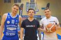 Renaldas Seibutis (kairėje), Jonas Nainys ir Rolandas Mackevičius