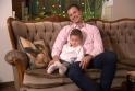 Nerijus Juška su sūnumi Pauliumi