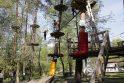 Atrakcija: laipiojimą tarp medžių paprastai renkasi vyresni vaikai, kurie nebijo aukščio.