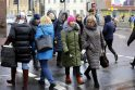 Akcija: perpiet Herkaus Manto gatve žingsniavę mokytojai varpelius laikė nuleistose rankose ir atrodė pavargę.
