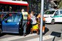 Kauno centre neblaivaus vairuotojo partrenkta pėsčioji