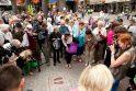 Rygoje - Baltijos keliui paminėti analogiška plytelė kaip ir Vilniuje