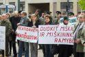 Miškininkų protestas prie Seimo