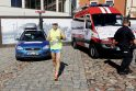 Baltijos jūrą apibėgęs ugniagesys gelbėtojas finišuos Klaipėdoje