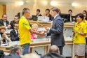 Kauniečiams Pietų Korėjoje teko rungtis ir pliaupiant liūčiai