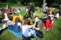 Sostinėje saulės spinduliais džiaugėsi susirinkę raudonplaukiai