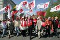 Profsąjungų eitynėse – politikų kalbos, sveikinimai ir skundai (papildyta)