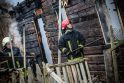 Gaisras Žiegždriuose: supleškėjo namas, senukas apdegė veidą
