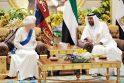 Elizabeth II Emyratuose atidengė būsimo Zayedo Nacionalinio muziejaus projektą
