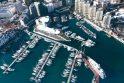 Šalia prabangių jachtų stovės ir viešbutis ant vandens