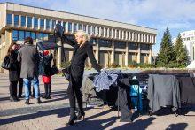 Aktorių protesto akcija prie Seimo