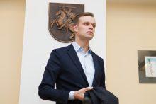 """""""MG Baltic"""" byla: G. Landsbergis atvyko į teismą, bet tenka laukti už durų"""