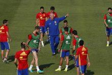 Net 10 Ispanijos futbolininkų prieš aštuntfinalį atliko dopingo testus
