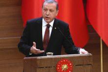 Turkijos prezidentas grasina siųsti pabėgėlius į ES