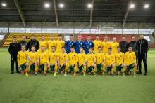 Lietuvos U-18 futbolo rinktinė pradės kovą turnyre Minske
