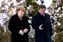 Vokietijos kanclerė tariasi su Turkija dėl migrantų