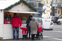 Kalėdinis miestelis sostinės Rotušės aikštėje