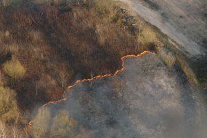 Pasieniečių nuotraukose – prie Kauno deganti žolė ir padangos