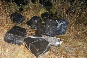Kontrabandininkai nuo pareigūnų spruko išmetę krovinį