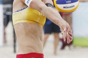 Paplūdimio tinklininkės Europos čempionate į dešimtuką nepateko