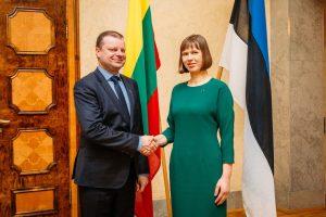 S. Skvernelis su Estijos prezidente kalbėjo apie regiono saugumą
