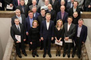 Vilniaus rotušėje surengtas padėkos vakaras avarijos likviduotojams