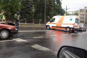 Per avariją Parodos kalno papėdėje sužaloti du žmonės