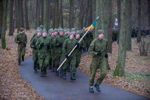 Vingio parke vyko bėgimas mirusiems kariams atminti