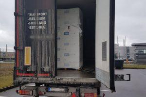 Ties Kryžkalniu sulaikyta beveik 1,5 mln. eurų vertės cigarečių kontrabanda