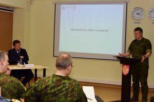 Apžvelgta Lietuvos kariuomenės veikla ir krašto apsaugos aktualijos