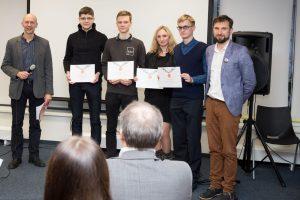 Kauno studentai sukūrė autonominio vežimėlio oro uostui prototipą