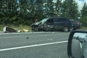 Dėl avarijos draudžiamas eismas kelio Šiauliai-Palanga atkarpoje